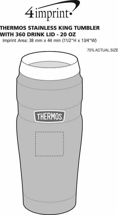 1a70b89e626 4imprint.ca: Thermos Stainless King Tumbler with 360 Drink Lid - 20 ...