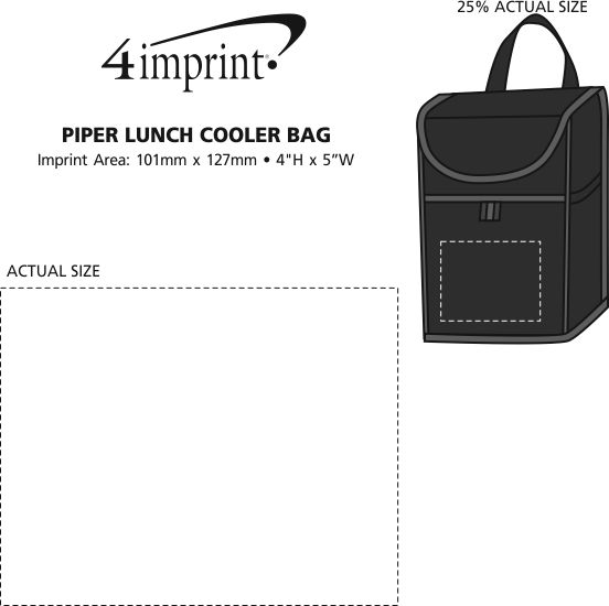 4imprint Ca Piper Lunch Cooler Bag C135387 Imprinted