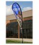 Outdoor Sail Sign - 14' - One-Sided