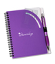 Curvy Top Notebook w/Pen